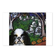 JAPANESE CHIN halloween grave Postcards (Package o