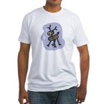 Wooden Reindeer Fitted T-Shirt