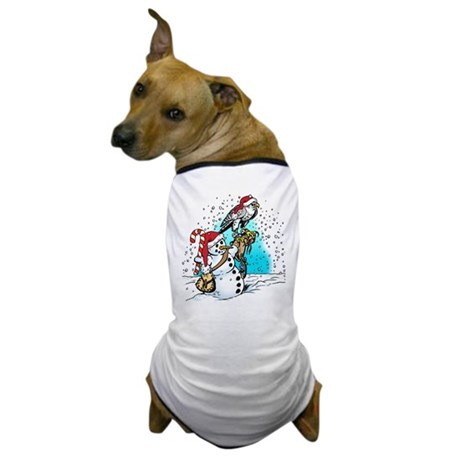 Snowman Falconer Dog T-Shirt