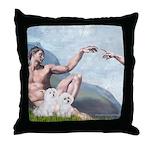 Creation/Maltese + Poodle Throw Pillow