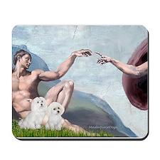 Creation/Maltese + Poodle Mousepad