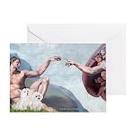 Creation/Maltese + Poodle Greeting Card