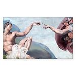 Creation/Maltese + Poodle Rectangle Sticker 50 pk