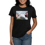 Creation/Maltese + Poodle Women's Dark T-Shirt