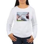 Creation/Maltese + Poodle Women's Long Sleeve T-Sh