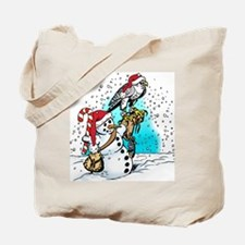 Falconer Snowman Tote Bag