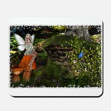 Fairy on a Mushroom Design 1 Mousepad