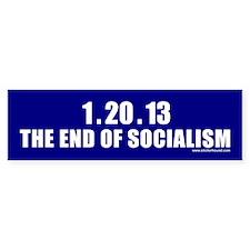 1.20.13 The End of Socialism Bumper Bumper Sticker