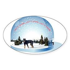 Snowglobe Oval Decal