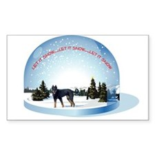 Snowglobe Rectangle Decal