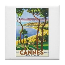 Cannes France Tile Coaster