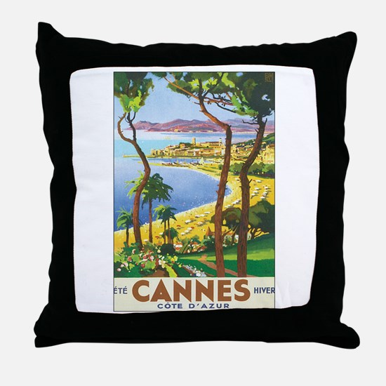 Cannes France Throw Pillow