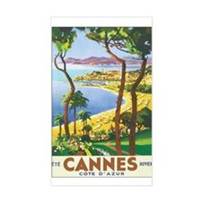 Cannes France Rectangle Decal