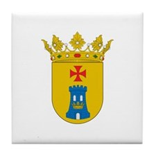 Funny Cross and crown Tile Coaster