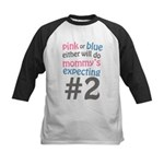 Mommy's Expecting #2 Kids Baseball Jersey