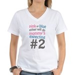 Mommy's Expecting #2 Women's V-Neck T-Shirt