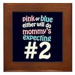Mommy's Expecting #2 Framed Tile