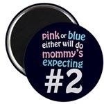 "Mommy's Expecting #2 2.25"" Magnet (10 pack)"