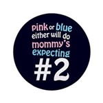 "Mommy's Expecting #2 3.5"" Button (100 pack)"