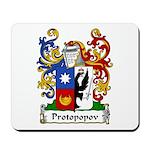 Protopopov Family Crest Mousepad