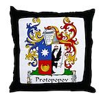 Protopopov Family Crest Throw Pillow