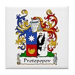 Protopopov Family Crest Tile Coaster