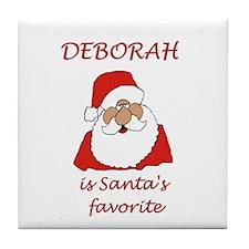 Deborah Christmas Tile Coaster