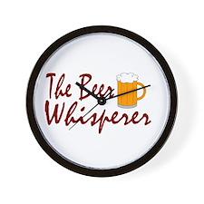 The Beer Whisperer Wall Clock
