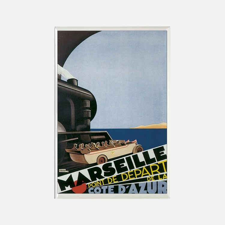 Marseille France Rectangle Magnet