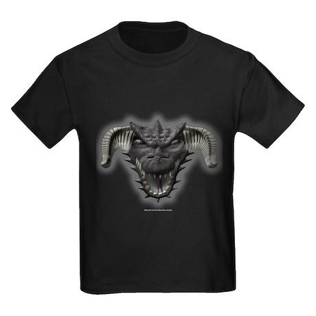 Black Dragon Head Kids Dark T-Shirt