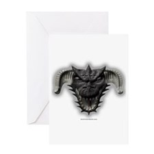 Black Dragon Head Greeting Card