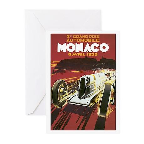 Monaco Grand Prix Greeting Cards (Pk of 10)