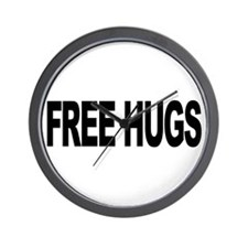 Free Hugs (L) Wall Clock