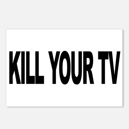 Kill Your TV (L) Postcards (Package of 8)