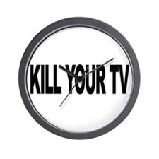 Kill Your TV (L) Wall Clock