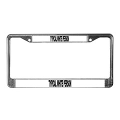 Typical White Person (L) License Plate Frame
