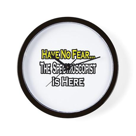 """""""No Fear...Spectroscopist"""" Wall Clock"""