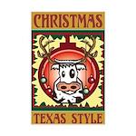 Texas Style Christmas Poster Print