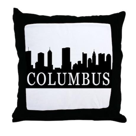Columbus Skyline Throw Pillow