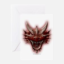 Red Dragon Head Greeting Card