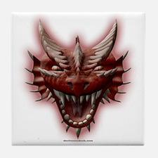 Red Dragon Head Tile Coaster