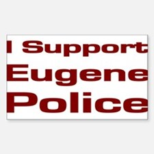 Police Supporter Rectangle Decal