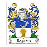 Ragozin Family Crest Small Poster