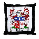Rakov Family Crest Throw Pillow