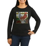 D'Uccle Rooster Women's Long Sleeve Dark T-Shirt