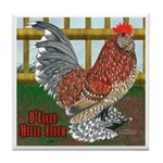 D'Uccle Rooster Tile Coaster