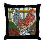 D'Uccle Rooster Throw Pillow