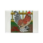 D'Uccle Rooster Rectangle Magnet