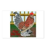 D'Uccle Rooster Postcards (Package of 8)