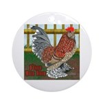 D'Uccle Rooster Ornament (Round)